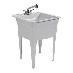 Cashel - CASHEL Heavy Duty Sink – Fully Loaded Sink Kit, Granite - Utility Sinks
