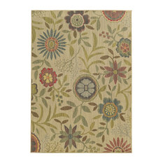 """Tommy Bahama Cabana 1330W Floral Outdoor Rug, Beige/Multi, 9'10"""" x 12'10"""""""