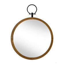 Flint Natural Wood Wall Mirror, 44.5 cm