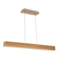 Drift LED Linear Pendant 3000K, Walnut, 38""