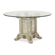 Aico Platine de Royale Round Glass Top Dining Table