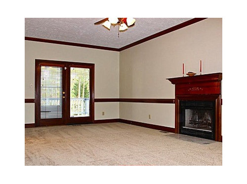 Wall To Lessen The Dark Wood Effect Or Painting Trim And Molding On Walls White Leaving Door Fireplace As Is What Are Your Thoughts