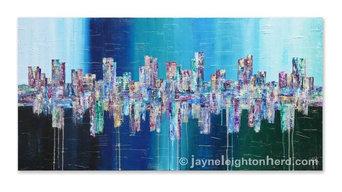'Deep' by Jayne Leighton Herd, painting on canvas