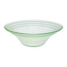 Pois Glass Ice Cream Bowls, Green, Set of 6
