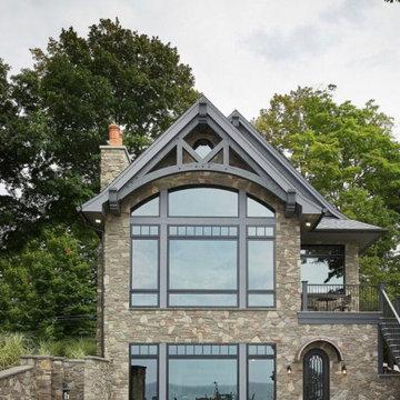 Brookhaven Dark Limestone Fieldledge Real Stone Veneer Exterior