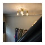 Art Deco Ceiling Lamp 4 Brass - Facil