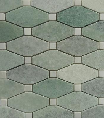Elongated Ming Green Hexagon - Tile