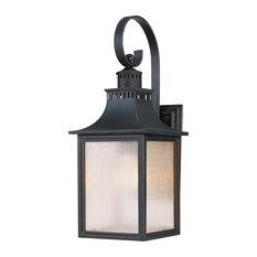 """Monte Grande Outdoor Wall-Mount Lantern, Slate, 17.75"""""""