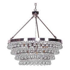 "Heidi 8 Llight Black Rose Gold Crystal Chandelier (28""Wx28""L) FS-001"