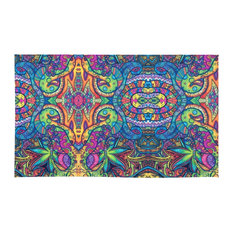 Society6   Society6 Colorful Weed Trippy Rug, ...