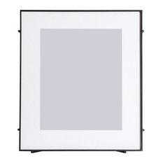 "Barin Square Rod Photo Frame, Black, 8""x10"""