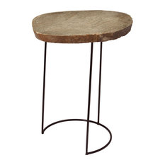 ELK Group International   Dimond Home Stone Slab And Wire Frame Table, Tall    Side