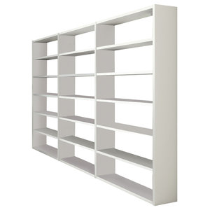 Torero Triple Bookcase, White