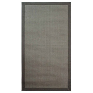 Natural Fibre Herringbone Rug, Grey and Grey, 200x290 cm
