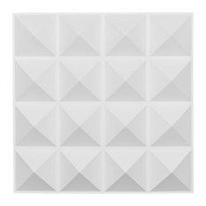 "19 5/8""W x 19 5/8""H Cornelia EnduraWall Decorative 3D Wall Panel, White"