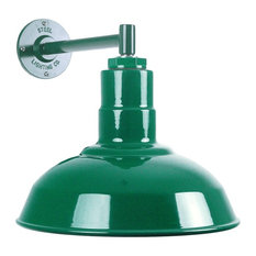 50 most popular green wall sconces for 2018 houzz steel lighting co the westchester industrial barn light short and compact green aloadofball Gallery