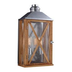 Medium Wall Lantern, Natural Oak