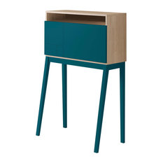 Hutch Desk, Cambrian and Turquoise