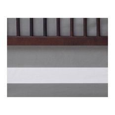 Woven Cotton Band Crib Skirt, Stone