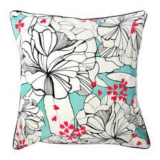 Floral Cushion Cover, 50x50 cm