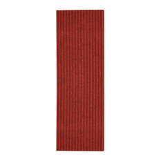 "Natural Area Rugs, Halton Polyester Stair Treads Carpet, Red, 9"" X 29"" Set of 13"