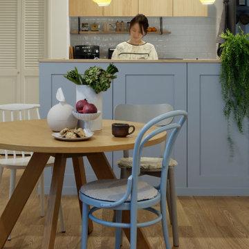 北欧のあたたかさを表現したキッチン
