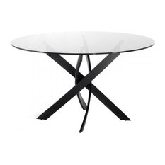 Vig Furniture Inc.   Modrest Pyrite Modern Smoked Glass U0026 Black Round Dining  Table