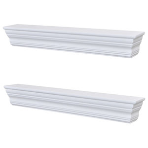VidaXL Wall Shelves, Aaliyah, Set of 2, White