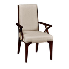 Art Deco Style Upholstered Dining Armchair