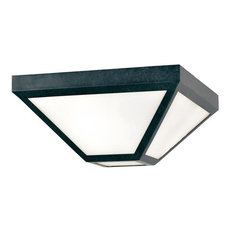 Crystorama GLA-9703-OP-BC Glacier - Two Light Outdoor Flush Mount