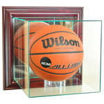 Perfect Cases, Inc. - Wall Mounted Basketball Display Case, Cherry - EXPEDITED SHIPPING - Wall Mounted Basketball Display Case, Cherry - EXPEDITED SHIPPING