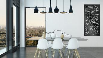 Elysium Decorative Screens E030 in Gloss Black Wall Art