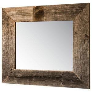 Mirror With Barnwood Frame 22 X26