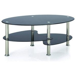 Vida Designs Cara Coffee Table, Black