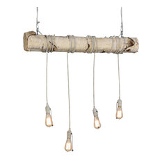 "Meyda 36"" Hounds Tooth 4-Light Island Pendant"