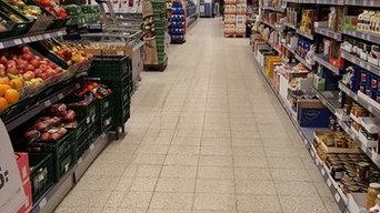Renovering af butiksgulv