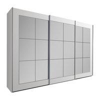 Bilbao Mirrored Wardrobe, White, Large