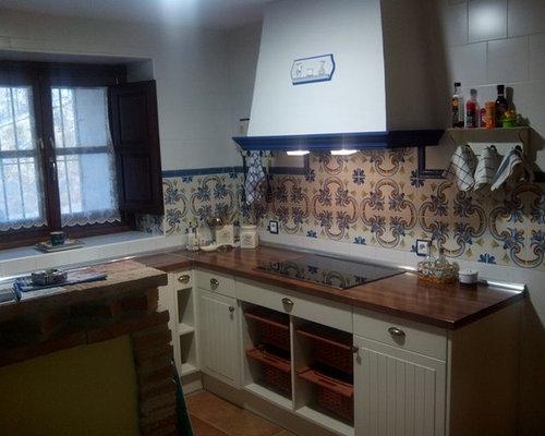 Reforma cocina lacada de estilo r stico - Cocinas estilo rustico ...