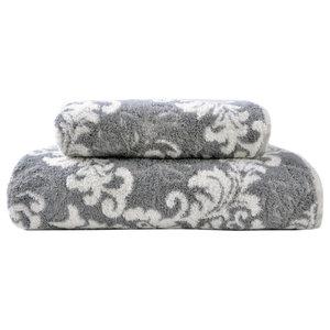 Rumelia Towel Set, Stone and Ivory, Set of 2