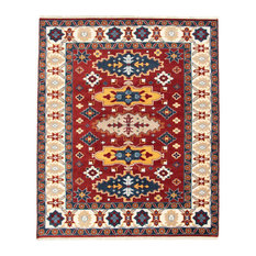 eCarpetGallery Hand Knotted Kazak Royal 8' x 10', Red Area Rug