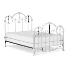 Standard Felicity Bed, White Matte, Vintage Green, Twin