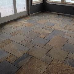 slate tile vs slate look porcelain tile