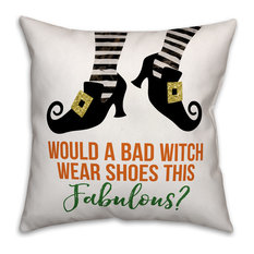 Designs Direct Creative Group - Bad Witch Fabulous Shoes 16 quot;x16 quot; Indoor   Outdoor Pillow -