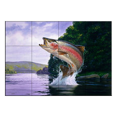 Tile Mural, Rainbow Trout by John Rice