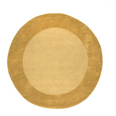 Liora Manne Madrid Border Gold Indoor Rug, 8', Round