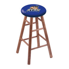 Maple Counter Stool Medium Finish With Grand Valley State Seat 24-inch