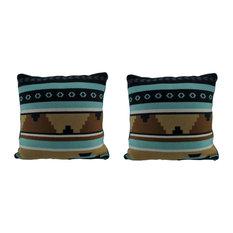 Rustic Southwest Lodge Decorative 18 inch Fleece Throw Pillow Set of 2