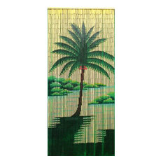 Bamboo54   Halcyon Palm Tree Curtain   Curtains