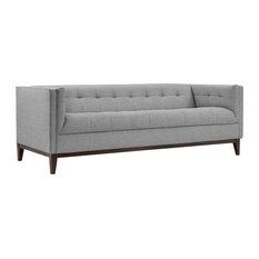 Modern Contemporary Urban Design Living Lounge Room Sofa Gray Gray Fabric