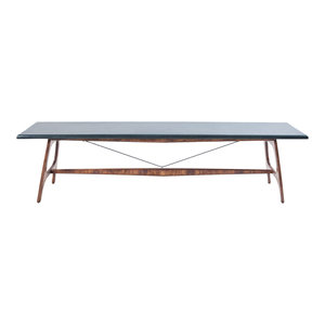 Pit Frame Bench, Grey and Brown Beech